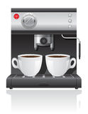 Ejemplo del vector del fabricante de café ilustración del vector
