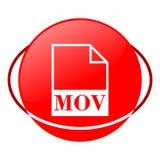 Ejemplo del vector del fichero de los movimientos, icono rojo Foto de archivo libre de regalías
