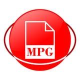 Ejemplo del vector del fichero de Mpg, icono rojo Imágenes de archivo libres de regalías