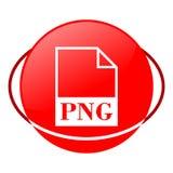 Ejemplo del vector del fichero del png, icono rojo Foto de archivo