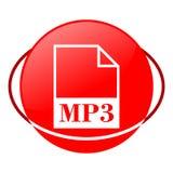 Ejemplo del vector del fichero Mp3, icono rojo Fotos de archivo