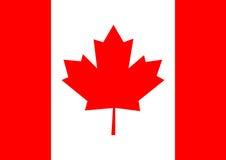 Ejemplo del vector del fondo de la bandera de Canadá Imágenes de archivo libres de regalías