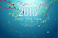 ejemplo del vector del fondo de la celebración de la Feliz Año Nuevo 2016 Fotografía de archivo libre de regalías