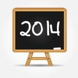 Ejemplo del vector del fondo de la Feliz Año Nuevo 2014 Imagen de archivo libre de regalías