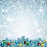 Ejemplo del vector del fondo de la nieve de la Navidad Fotos de archivo