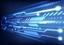 Ejemplo del vector del fondo de la tecnología de Digitaces Imágenes de archivo libres de regalías