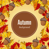 Ejemplo del vector del fondo del otoño Fotos de archivo libres de regalías