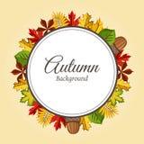 Ejemplo del vector del fondo del otoño Imagenes de archivo