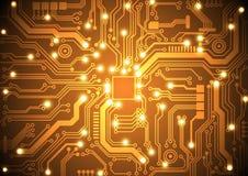 Ejemplo del vector del fondo del vector de la placa de circuito Foto de archivo