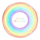 Ejemplo del vector del fondo redondo del arco iris Foto de archivo libre de regalías
