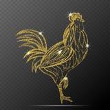 Ejemplo del vector del gallo Imagenes de archivo