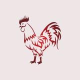 Ejemplo del vector del gallo Imágenes de archivo libres de regalías