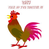 Ejemplo del vector del gallo colorido Concepto del Año Nuevo 2017 Símbolo chino del zodiaco libre illustration
