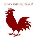 Ejemplo del vector del gallo Concepto del Año Nuevo Muestra china 2017 del zodiaco stock de ilustración