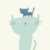 Ejemplo del vector del gato para el día de padres Foto de archivo libre de regalías