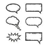 Ejemplo del vector del globo de discurso stock de ilustración