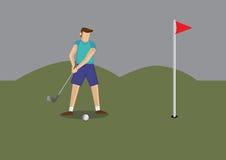 Ejemplo del vector del golf del juego del hombre stock de ilustración