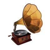 Ejemplo del vector del gramófono Imagen de archivo libre de regalías