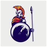 Ejemplo del vector del guerrero espartano Imagen de archivo libre de regalías