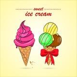 Ejemplo del vector del helado colorido Imágenes de archivo libres de regalías