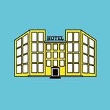 Ejemplo del vector del hotel, icono del vector Foto de archivo libre de regalías