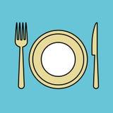 Ejemplo del vector del hotel, icono del vector Fotografía de archivo libre de regalías