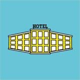 Ejemplo del vector del hotel, icono del vector Imagen de archivo
