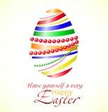 Ejemplo del vector del huevo de Pascua colorido de la cinta Foto de archivo libre de regalías