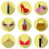 Ejemplo del vector del icono de los accesorios de las mujeres Stock de ilustración