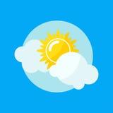 Ejemplo del vector del icono de Sun Imagen de archivo libre de regalías