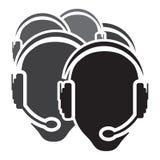 Icono del centro de atención telefónica Imágenes de archivo libres de regalías