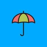 Ejemplo del vector del icono del paraguas Fotografía de archivo libre de regalías