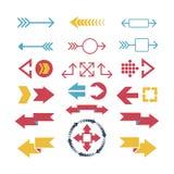 Ejemplo del vector del icono del web de la flecha Fotografía de archivo