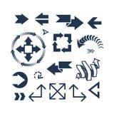 Ejemplo del vector del icono del web de la flecha Foto de archivo