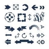 Ejemplo del vector del icono del web de la flecha Fotografía de archivo libre de regalías