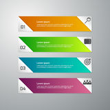 Ejemplo del vector del infographics del negocio 4 opciones Sistema de Ilustración del Vector
