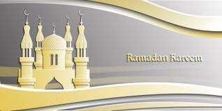 Ejemplo del vector del Islam para Ramadan Kareem Tarjeta de felicitación tradicional hermosa Fondo islámico ilustración del vector