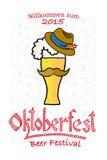 Ejemplo del vector del logotipo de Oktoberfest del inconformista Imagen de archivo