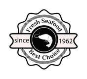 Ejemplo del vector del logotipo del sushi Imagenes de archivo