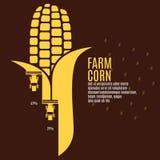 Ejemplo del vector del maíz de la granja Fotografía de archivo libre de regalías