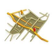 Ejemplo del vector del mapa de la ciudad libre illustration