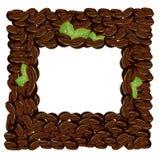 Ejemplo del vector del marco de los granos de café ilustración del vector
