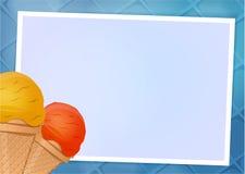 Ejemplo del vector del marco del helado Foto de archivo libre de regalías