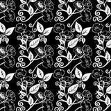 Ejemplo del vector del modelo de flores blanco y negro Imagen de archivo libre de regalías
