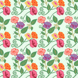 Ejemplo del vector del modelo de flores en colores pastel Foto de archivo libre de regalías