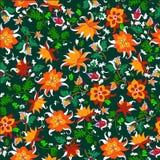 Ejemplo del vector del modelo de flores inconsútil Fotografía de archivo libre de regalías