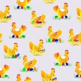 Ejemplo del vector del modelo inconsútil del pollo Imagen de archivo
