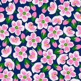 Ejemplo del vector del modelo rosado inconsútil del flor Fotos de archivo