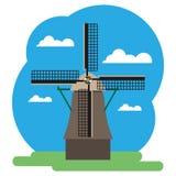 Ejemplo del vector del molino de viento Fotografía de archivo libre de regalías