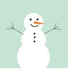 Ejemplo del vector del muñeco de nieve ilustración del vector